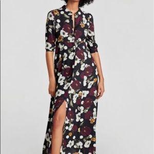 Gorgeous Zara floral maxi dress